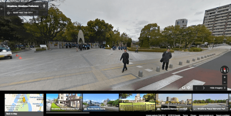 hiroshima peace park children's memorial on google street view