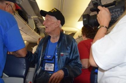Utah Honor Flight Boarding in LAS