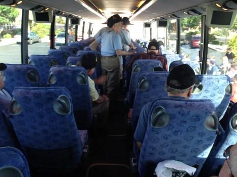 Boarding the Bus In St. George Utah Honor Flight