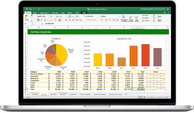Microsoft Excel 2016 For Mac OS X