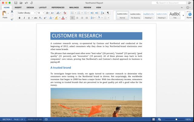 Microsoft Word 2016 Mac OS X