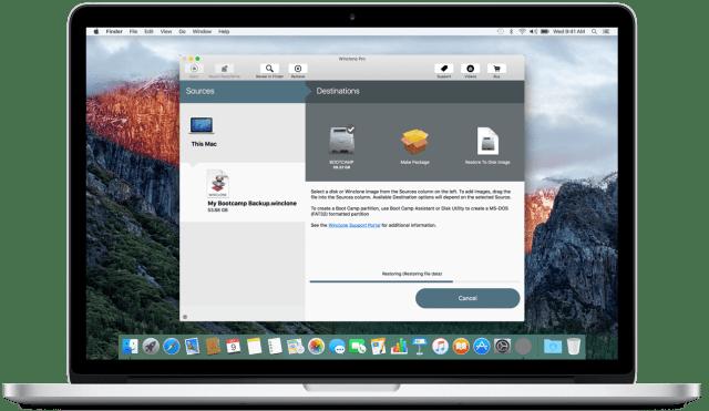 Winclone Mac OS X
