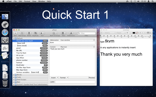 aText For Mac OS X