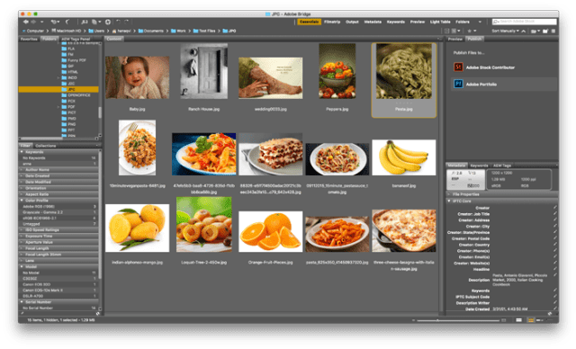 Adobe Bridge for MacOSX
