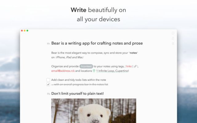 Bear For MacOSX