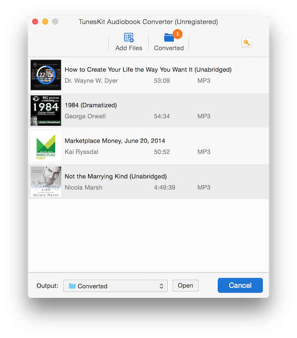 TunesKit Audiobook Converter For MacOSX