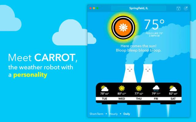 CARROT Weather mac