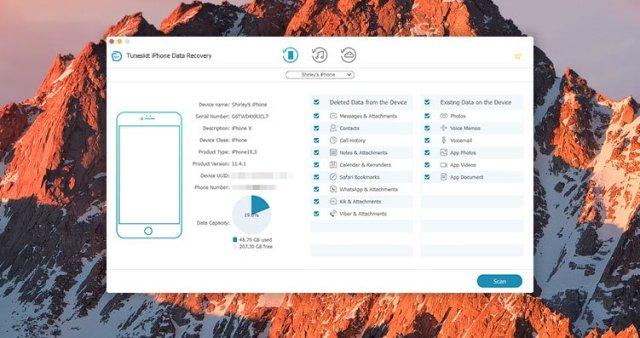 TunesKit iPhone Data Recovery mac