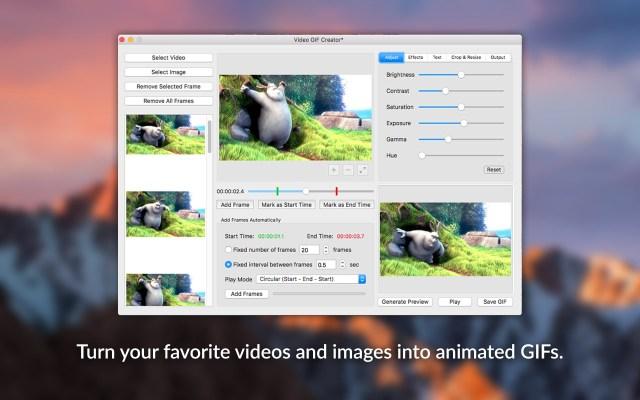 Video GIF Creator Mac
