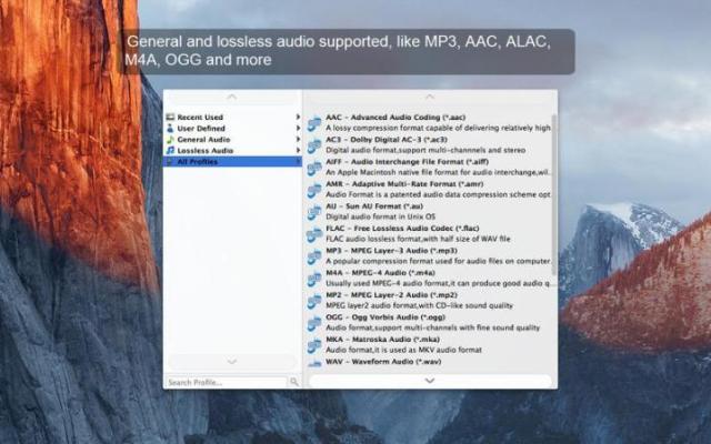AnyMP4 MP3 Mac