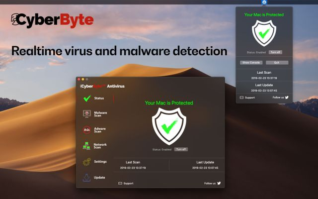 CyberByte Antivirus Mac