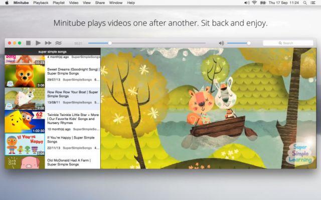 Minitube for YouTube Mac