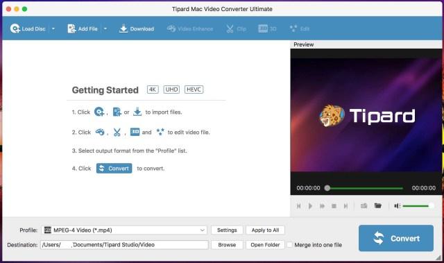 Tipard Mac Video Converter Mac