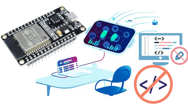 [100% OFF] ESP32 Programming without Coding