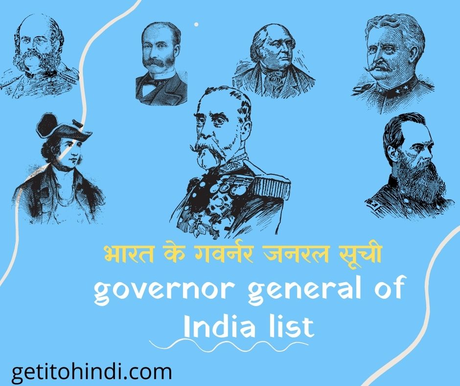 governor general of India list