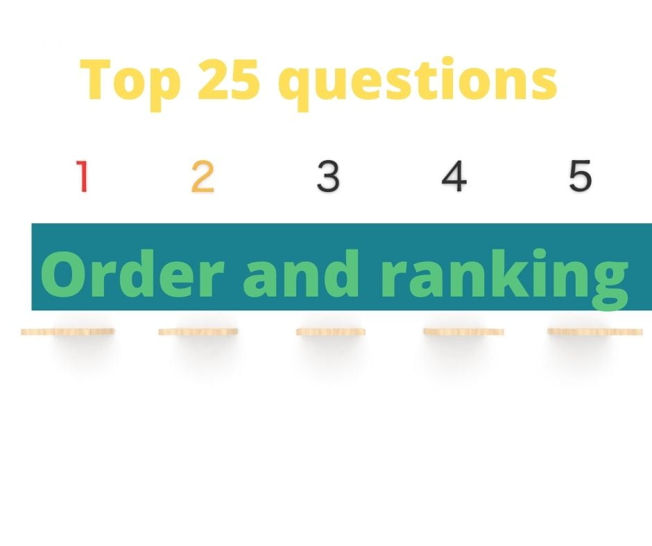Order and ranking