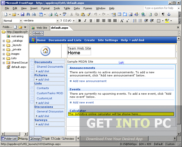 Microsoft Office FrontPage 2003 Free Download
