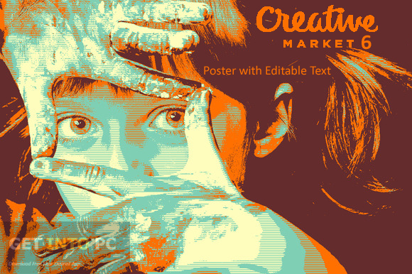 Creativemarket 6 Poster with Editable Text Free Download