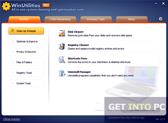 WinUtilities Professional Edition Portable Free Download