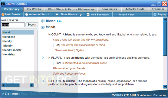 Collins Cobuild Advanced Learners Dictionary 5th Edition Direct Link Download