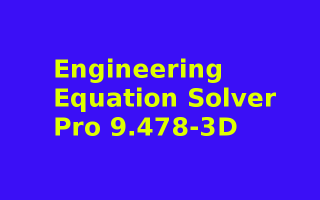 Engineering Equation Solver Pro 9.478-3D Download