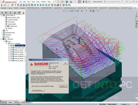 SolidCAM 2017 SP2 HF3 for SolidWorks 2012-2018 Latest Version Download