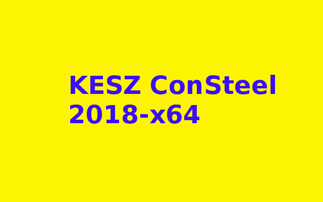 KESZ ConSteel 2018-x64 Free Download
