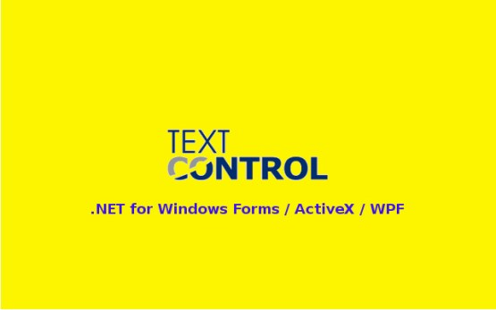 TX Text Control .NET for Windows Forms ActiveX WPF Free Download
