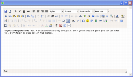 Spicelogic .NET WinForms HTML Editor Control 7.4.11.0 Latest Version Download