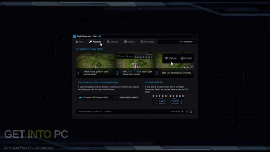 XSplit Gamecaster Free Download