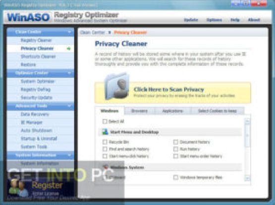 WinASO Disk Cleaner Latest Version Download GetIntoPC.com