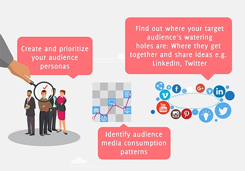 Creating Audience persona and identifying consumption patters will help your B2B Content Marketing Stretegy