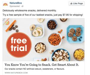 NatureBox Facebook AD