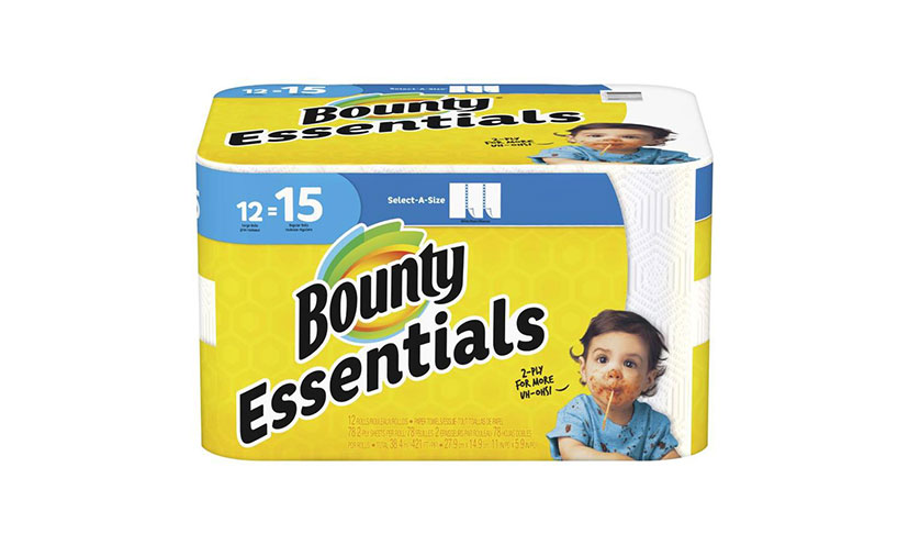 Save 100 on a Bounty Essentials Paper Towel Product