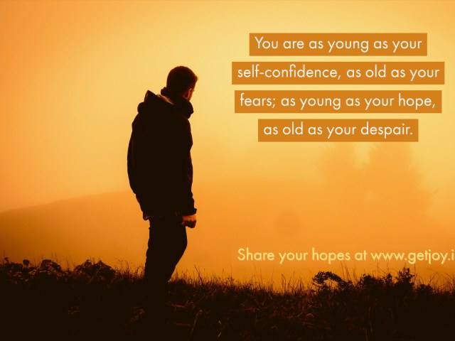You are as old as …..