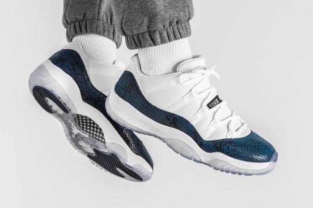 "Air Jordan 11 Low ""Blue Snakeskin"" Drops Today: Purchase Links"