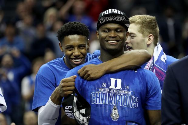 RJ Barrett Jokingly Interviews Zion Williamson At NBA Draft Media Day