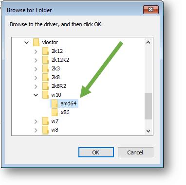select the folder amd64 under w10