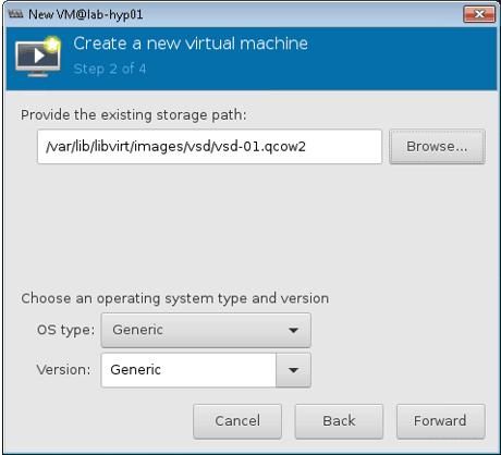 attaching the Nuage VSD image to KVM