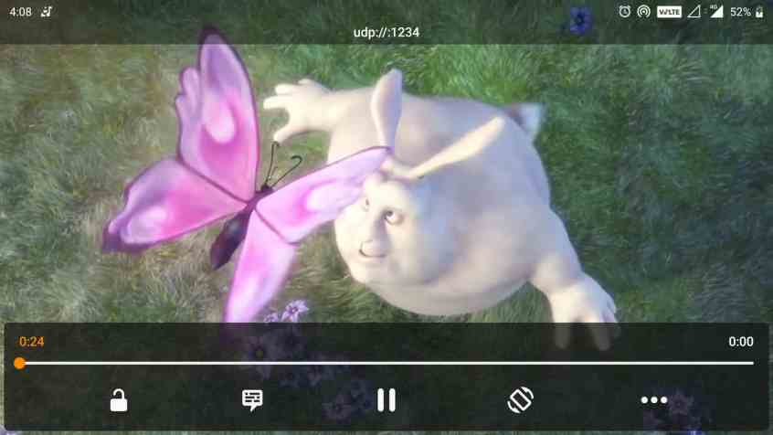 VLC streaming started to play successfully on your android phone