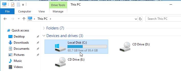verifying windows 10 storage in kvm after extending.