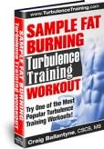 Sample Fat Burning Turbulence Training Workout