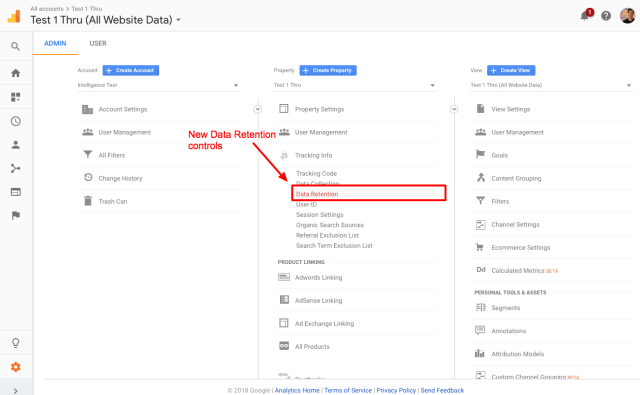 Change data retention controls in Google Analytics