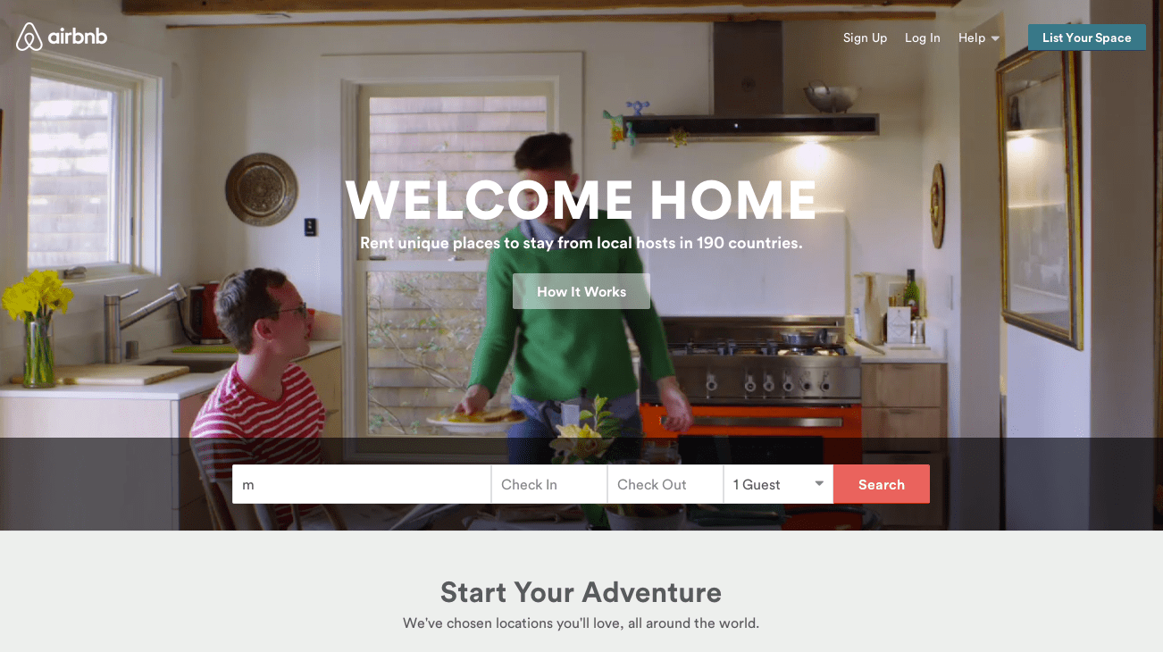 Airbnb | site built with Ruby On Rails | 41studio ruby on rails development company