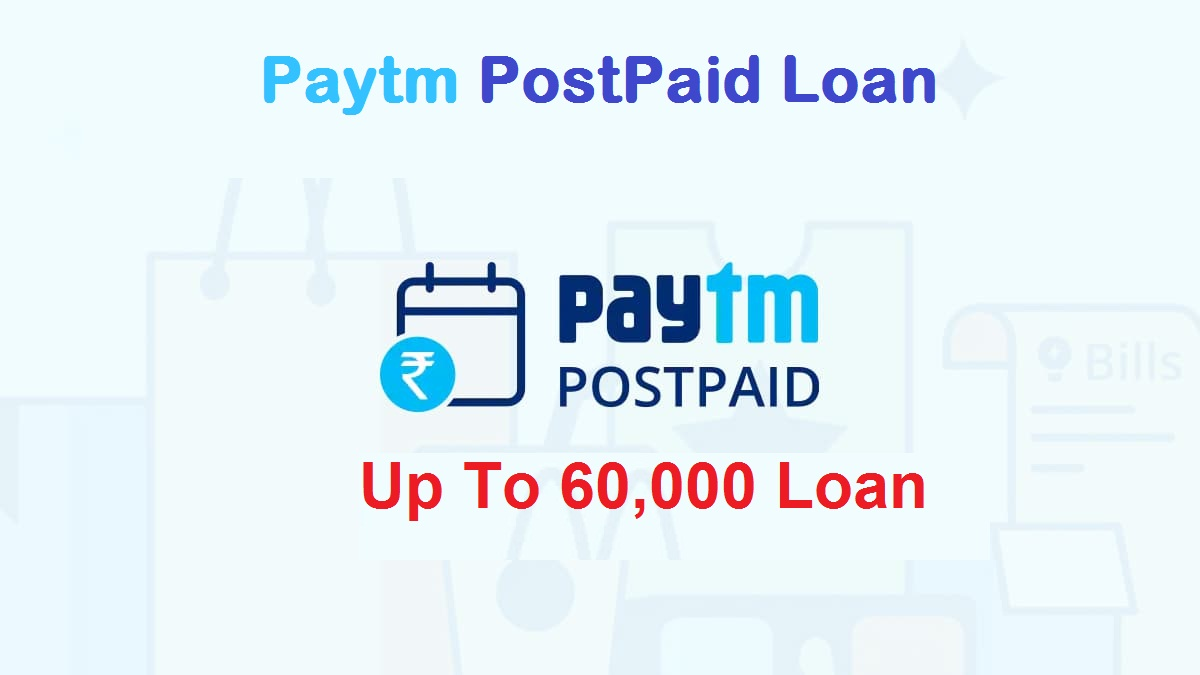Paytm postpaid is another type of loan that is available from the Paytm app. You can get a Paytm postpaid loan up to Rs. 60,000 for 30 days. Use your Paytm Postpaid amount to pay movie tickets, pay mobile, DTH & electricity bills, as well as shop online. This is a fully paperless process. That means you don't need to go anywhere. You can apply from home.