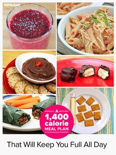 Sample 1400 calorie diet plan a day