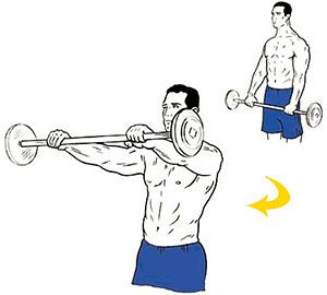 Exercise 5: Barbell front raise