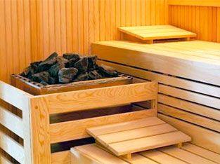 Sauna with stones