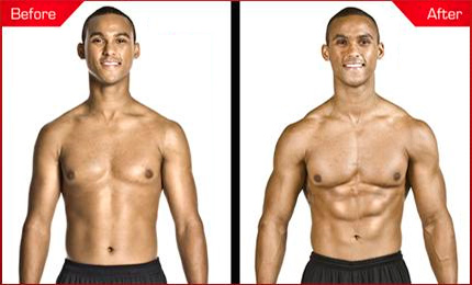 Before and after using creatine
