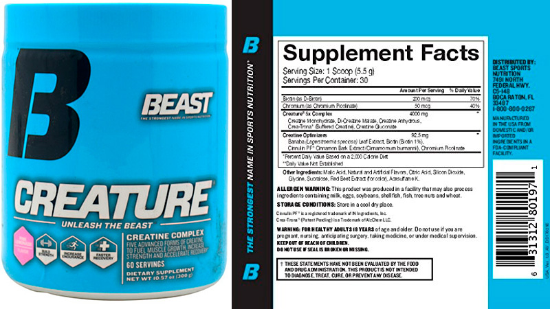 Creatine Complex Supplement by Beast